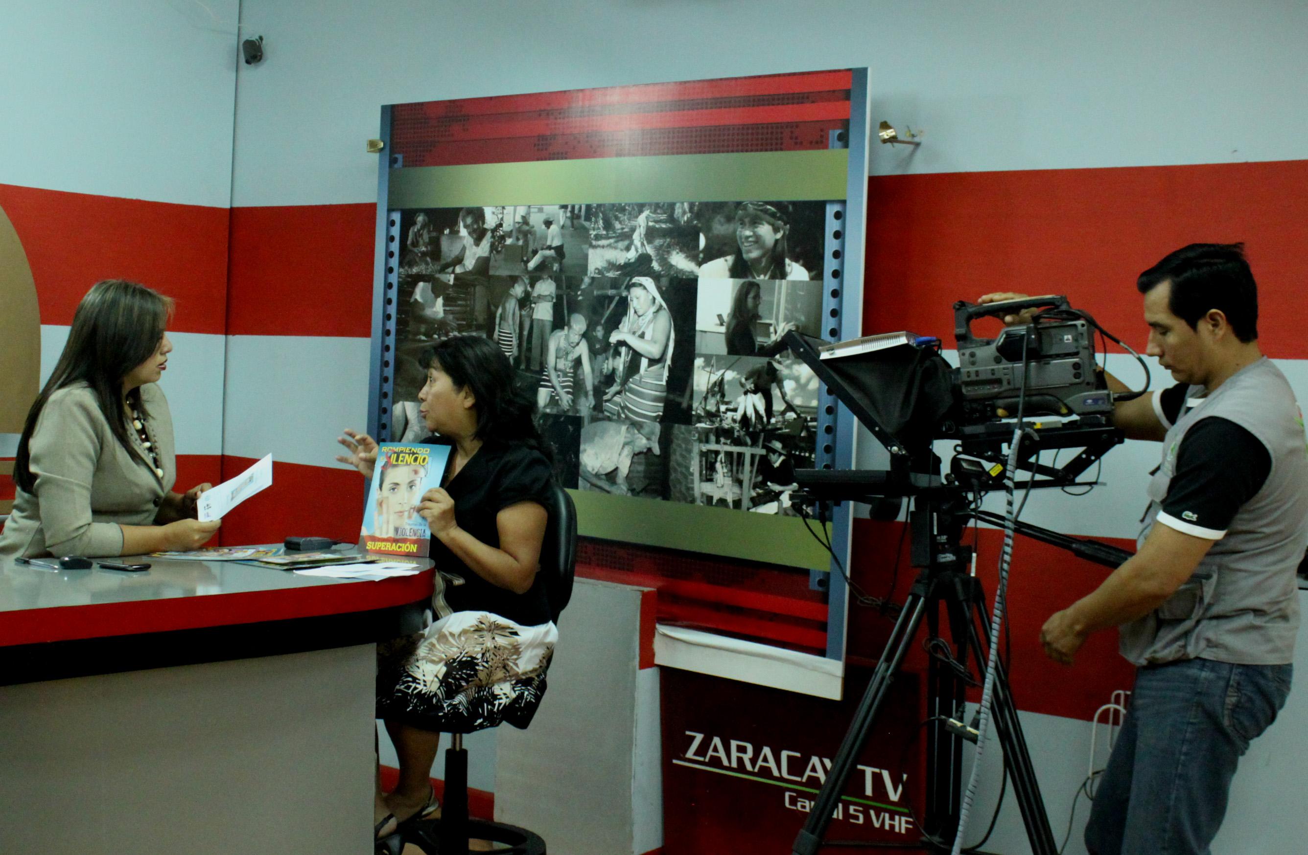 Se realizaron entrevistas en los canales de television Zaracay y Majestad