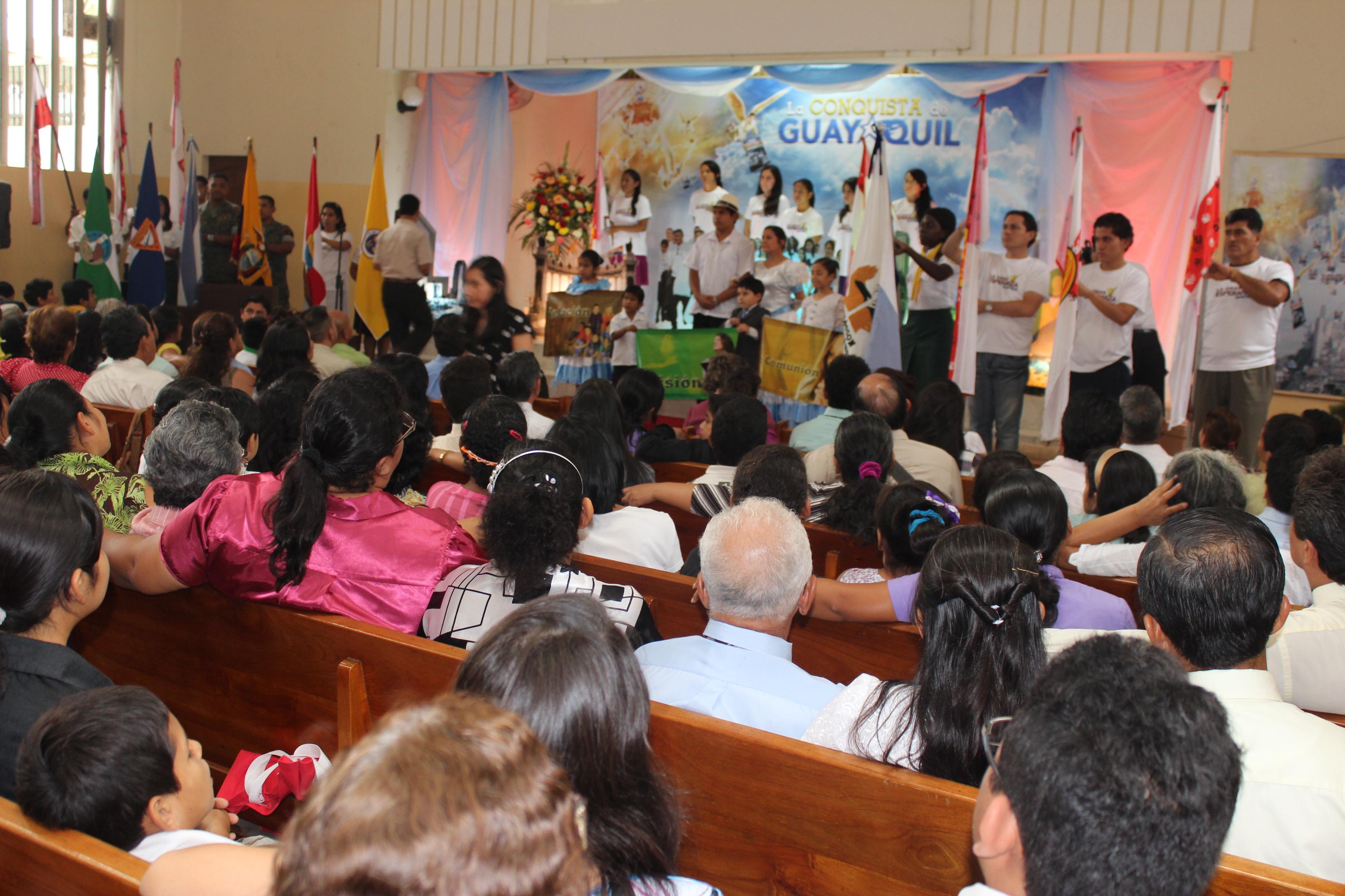 Los líderes y feligreses comprometidos en La Conquista de Guayaquil