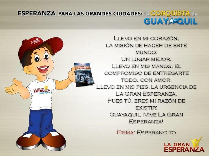 Personaje animado del proyecto Esperanza para las grandes ciudades, en Ecuador