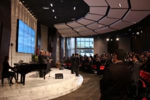 Pastores, de la Iglesia Adventista, con más cantidad de miembros en América del Sur. Reunidos en la Sede Sudamericana Adventista.