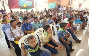 Asistentes al Encuentro de Niños Predicadores, al sur de Ecuador.
