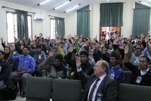 Asistentes al Encuentro de Comunicación en Bolivia.