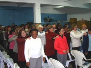 Mujeres oyentes de Radio Nuevo Tiempo, en Uruguay. Participando el marco del Sábado Misionero de la Mujer Adventista.