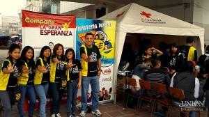 """Jóvenes Caleb de Ecuador, participaron del proyecto de donación de sangre """"Vida por Vidas""""."""