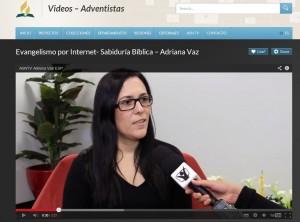 Adriana Vaz, en entrevista con ASNTV. Una misionero que evangeliza por medio de la red social Facebook.