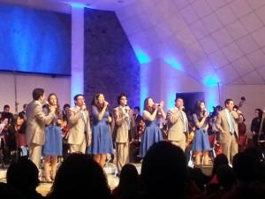 Cantantes que hicieron parte del concierto de adoración en Chile.