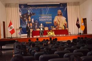 Encuentro de Empresarios Adventistas dio lugar en el Salón de Actos de la Universidad Peruana Unión.