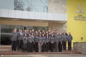 En la foto secretarios de la iglesia en Chile e invitados de la División Sudamericana.