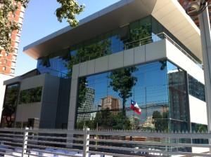 Frontis de la nueva sede administrativa de la Misión Sur de Chile.