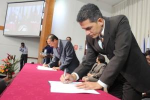 Rectores de Sudamérica firmaron convenios.