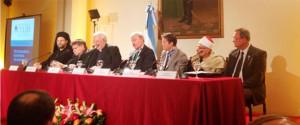 Algunos representantes religioso en la cancillería Argentina, participando de un evento de Libertad Religiosa.