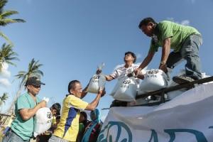Las donaciones están ayudando a minimizar los efectos del tifón en la región.