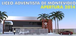 Fachada definitiva que tendrá el primer Liceo Adventista de Montevideo.