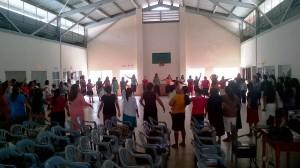 Varios iglesias participaron de este simulacro que busca capacitar en casos de emergencia.