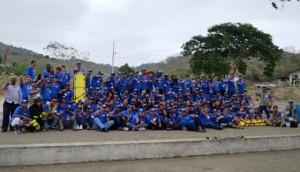 112 participantes de Visión Mundial  durante la jornada de capacitación