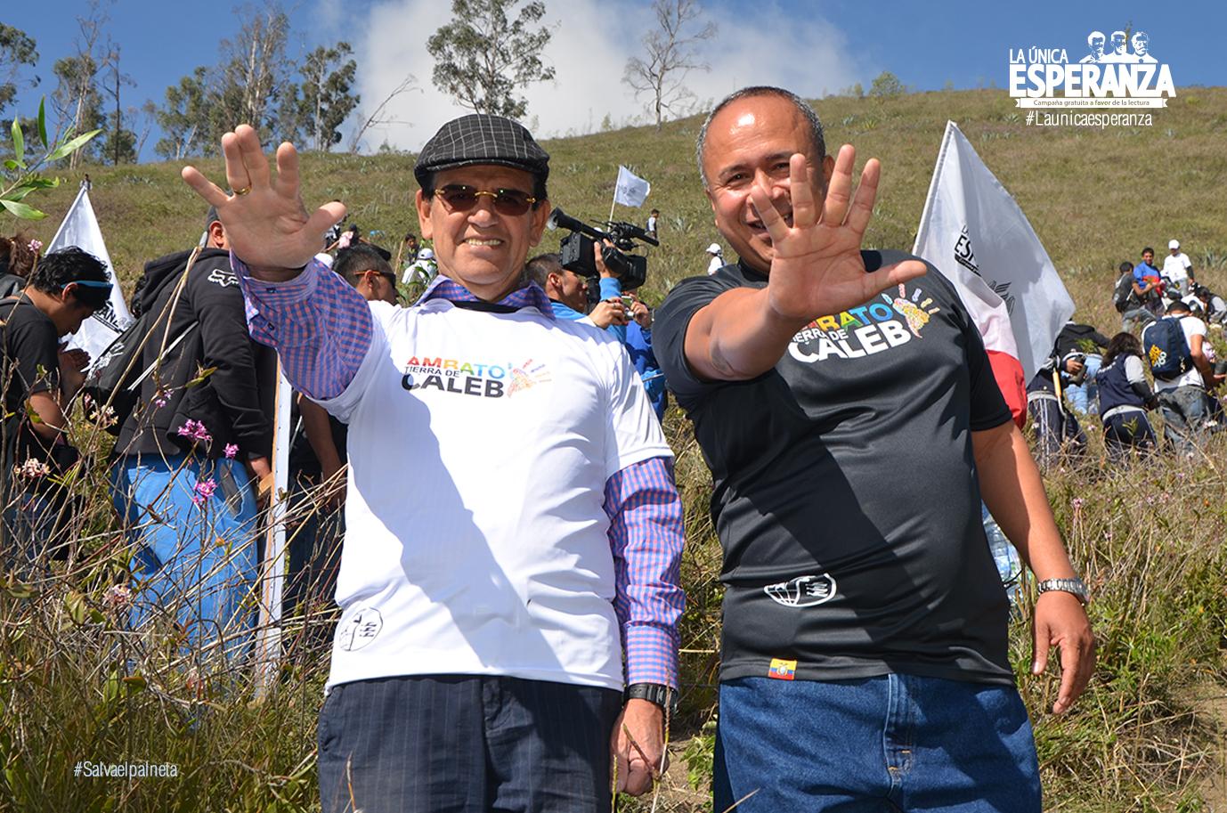 Alcalde del Ilustre Municipio de Ambato y el Presidente de la Iglesia Adventista en Ecuador