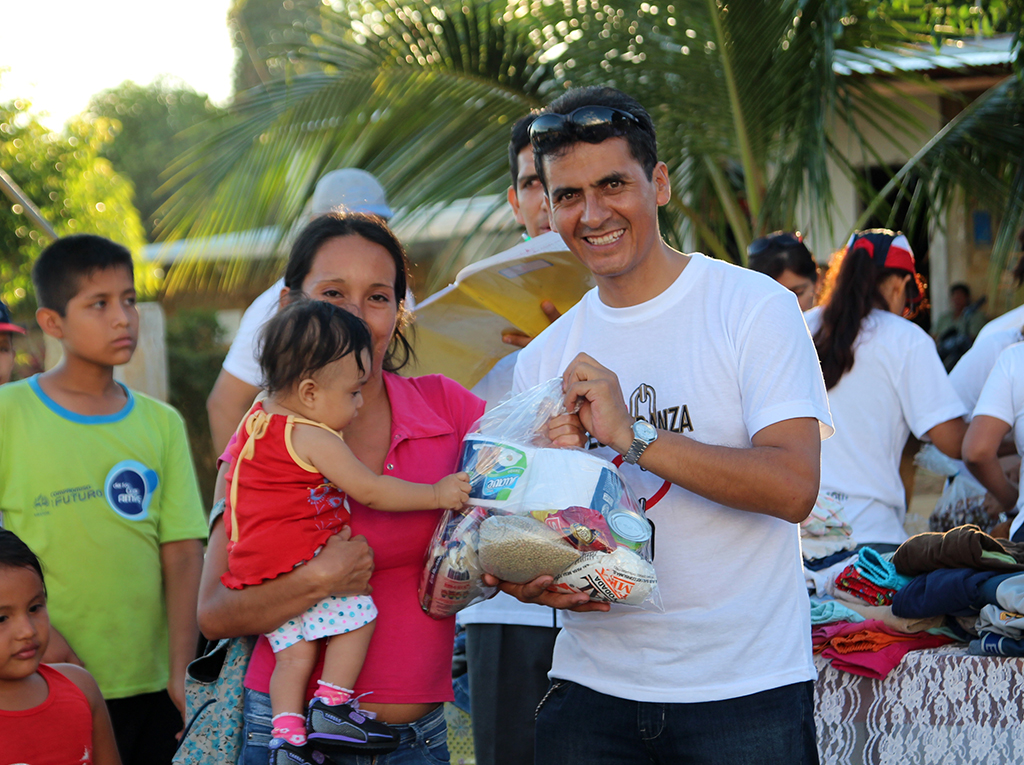 Familias comparten La Única Esperanza en la ciudad de Tarapoto