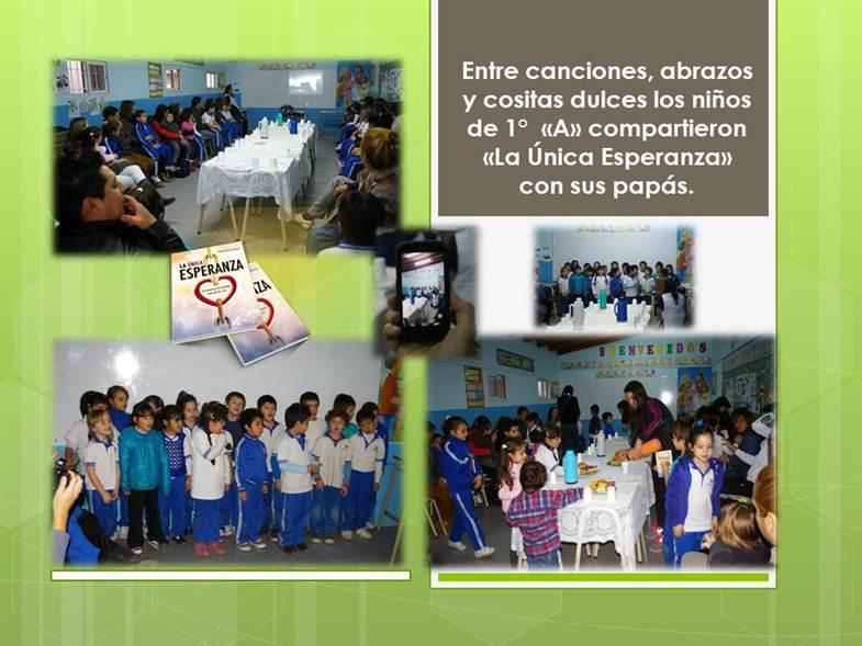 Alumnos compartiendo esperanza