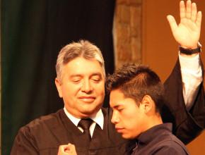 Uno de nuestros bautismo de la Semana Jóvenes.