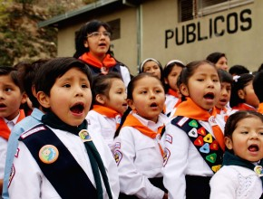 Aventureros en el Parque Urbano de la ciudad de La Paz.