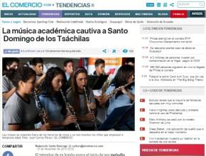 Diario explica los beneficios de la música en la formación integral del alumno.
