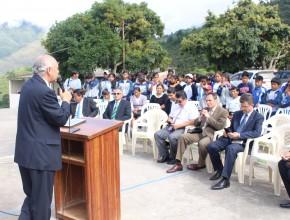 El líder de la Nuevo Tiempo en Bolivia hablando de los desafios y conquista con esta nueva instalación