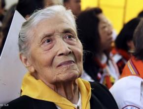 Nercida Florián de Ruiz, pionera del Club de Conquistadores en Sudamérica.
