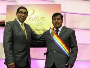 Jesús Ramos, alcalde del Centro Poblado Hampatura (Cusco), fue bautizado por el Pr. Ramiro Díaz.