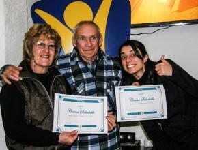 Alumnos graduados del curso de cocina saludable de Radio Nuevo Tiempo.