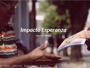 Página está disponible en español y portugués.