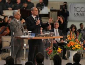 Presidente mundial durante sermão no centenário do Unasp, campus São Paulo: papel estratégico das instituições educacionais no cumprimento da missão – Crédito: Pedro Caron