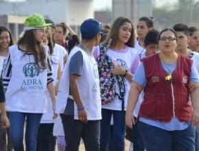 Voluntario de ADRA en acción en Rivadavia Banda Sur.