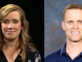 Melissa Jordan, izquierda, y Michael Bell, derecha, estaban grabando un programa en el estudio de It Is Written cuando comenzó el tiroteo. (It Is Written)