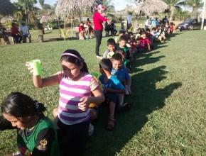 Niños participaron de actividades recreativas.