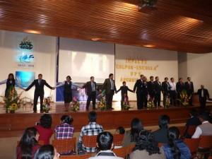 Participantes del Colpor-Impacto en la ciudad de Arequipa, Perú.