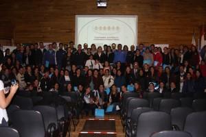 Asistentes al Primer Foro por los Derechos de la Niñez y la Adolescencia de las Colonias Unidas, en la ciudad de Hohenau, el 14 de junio.
