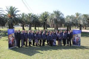 Colportores permanentes del Uruguay participando en segunda asamblea.