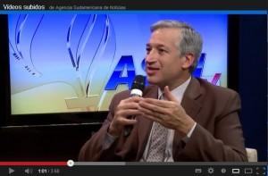 Dr. Reinaldo Siqueira, rector del SALT, en entrevista para ASNTV.