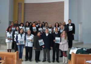 Representantes de ASA, en Chile, en la foto final de la capacitación.