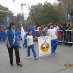 Alumnos adventistas participan de desfile municipal