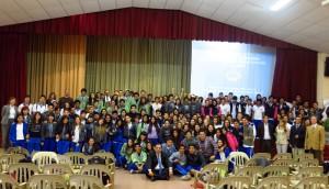Alumnos de Colegios Adventistas que participaron de la Jornada de Economía.