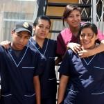 Estudiantes de la Biblia del Personal de la Clínica Americana Adventista de Quito.