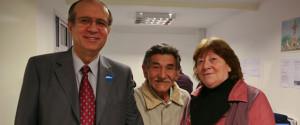Pr. Daniel Vergara, Enrique Martinez y Alicia Hernández. Foto: Lisandro Batistutti