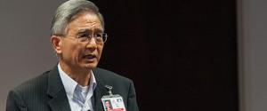 Secretario mundial adventista, G.T.Ng. junto al Dr. David Trim, responsable por las estadísticas de la sede mundial adventista.