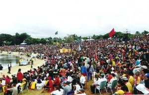 Última edición del Camporí Sudamericano de Conquistadores ocurrió el 2005, en Paraná, Brasil – Crédito: Facebook Eu Sou um Desbravador – https://www.facebook.com/eusouumdesbravador