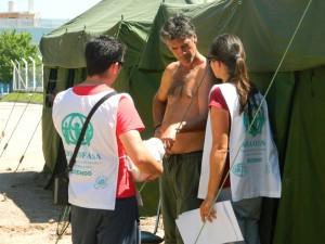 Familias evacuadas en Durazno reciben asistencia de ADRA