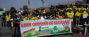 Invasión Amarilla 3R reúne cinco toneladas de material reciclable en Misión Caleb.