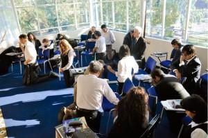 Las oficinas de la Iglesia Adventista en Chile vivieron momento intensos de oración.