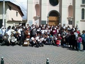 """Casi 100 personas del """"Distrito Quito I"""", entregaron La Única Esperanza en Lloa."""