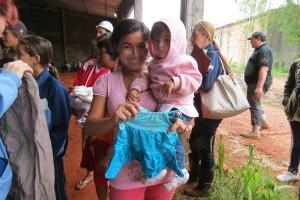 ADRA en Paraguay respondió con alimentos y ropa en la ciudad afectada por las intensas lluvias.